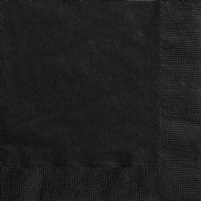20 Black Paper Party Beverage Napkins